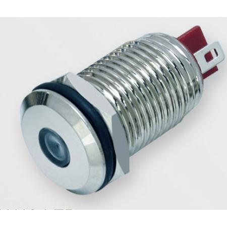 Лампочка Антивандальная A10-LED 12-24v Зелёный, провод 14см