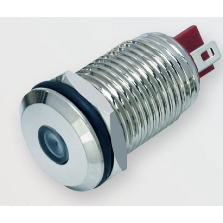 Лампочка Антивандальная A10-LED 12-24v Синий, провод 14см