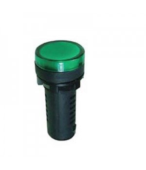Лампа диодная AD-16-16, 12V зеленая