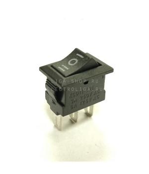Переключатель KCD1-101/3P D нейтраль, черный
