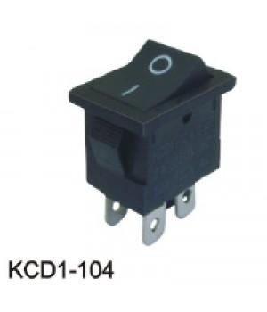 Переключатель KCD1-104/4p черный