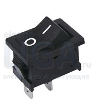 Переключатель KCD1-106/2P OFF-(ON) черный