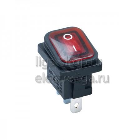Переключатель KCD1-104/3PN FS 220V красный