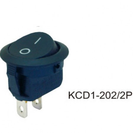 Переключатель KCD1-202/2P черный
