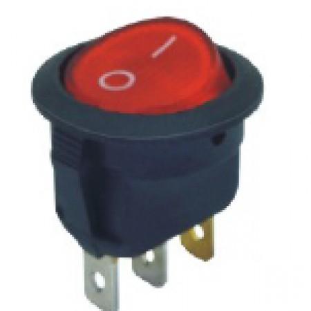 Переключатель KCD1-202/N 220v красный