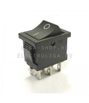 Переключатель KCD2-202/6P 2.8 черный