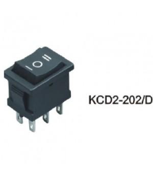 Переключатель KCD2-202/6P D 2.8 черный