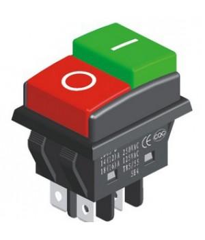 Переключатель KCD3-03/4P (on-off) красный/зелёный (KCD4-AN4)