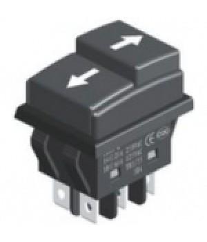 Переключатель KCD3-07 6p (on-on) черный