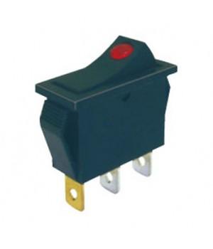 Переключатель KCD3-101/MN 12V желтый