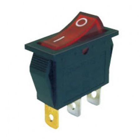 Переключатель KCD3-101/N 220V красный