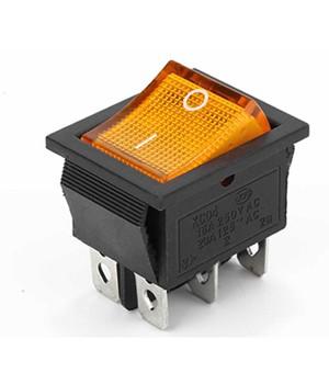 Переключатель KCD4-101/4PN 12V желтый