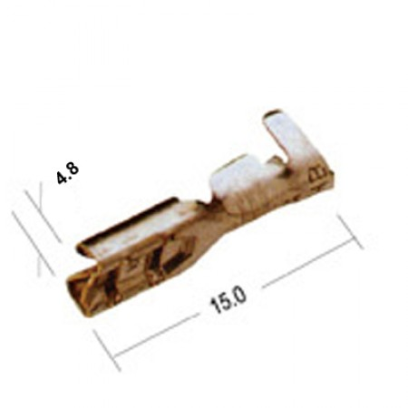 Ножевой разъем, 4.8мм c защелкой, 1000шт.