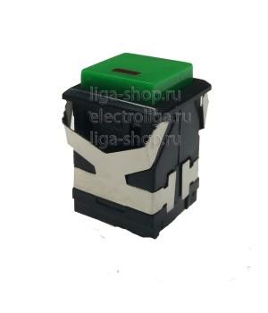 Кнопка KD2-21 Зеленый с фиксацией