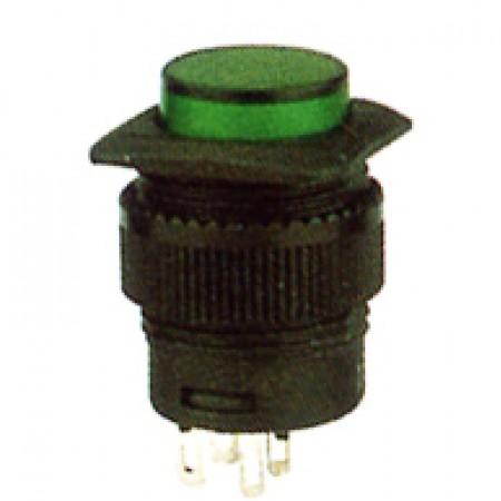 Кнопка R16-504/AD зеленый с фиксацией без/диода