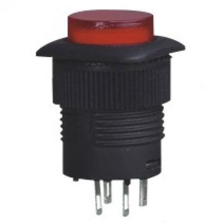 Кнопка R16-504/AD красный с фиксацией без/диода